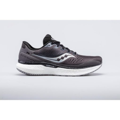 MEN'S SAUCONY TRIUMPH 18 CHARCOAL/WHITE S20595-40
